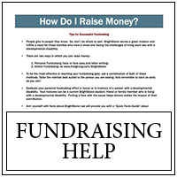 Fundraising help button